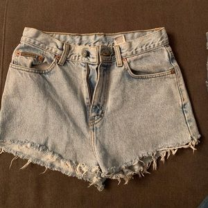 Calvin Klein high rise jean shorts